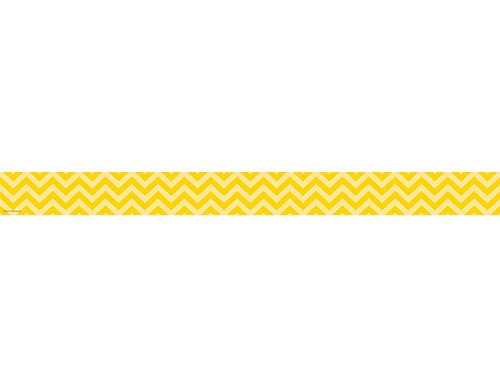 Teacher Created Resources 5521 Yellow Chevron Straight Border Trim
