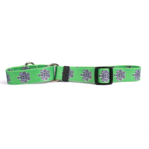 "Knotted Shamrock Martingale Control Dog Collar - Size Extra Small 10"" Long - Made In The USA"