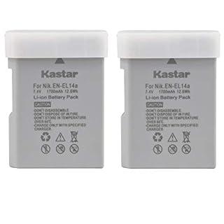 Kastar Battery (2-Pack) for Nikon EN-EL14a, EN-EL14, ENEL14A, ENEL14 EL14 & Nikon Coolpix P7000 P7100 P7700 P7800, D3100, D3200, D3300, D3400, D5100, D5200, D5300 DSLR, Df DSLR, D5600 Camera