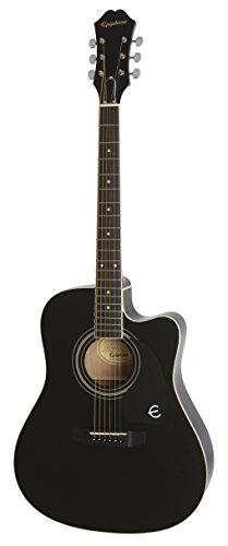 Epiphone EEFTEBCH1 FT-100CE Jumbo Acoustic Guitar, Ebony