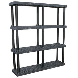 amazon com durashelf adjustable plastic shelving 4 shelf 66w x 16d rh amazon com Adjustable 3 Tier Plastic Shelving Walmart Plastic Shelving Units