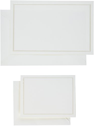 Gartner Studios Border Wedding Invitations + Cards, Pearl Ivory, 50-Count (61007)