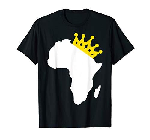 Africa African Map Queen Black Pride Melanin Shirt Gift (T-shirt Africa Map)