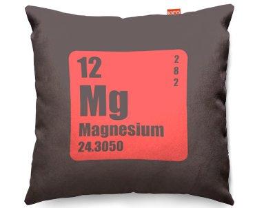 """La tabla periódica de los elementos casestm """"magnesio"""" cojín, tela, gris"""