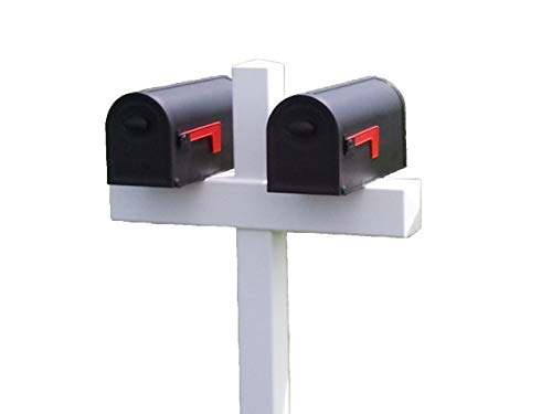 Handy Post Double 54-in x 32-in White Vinyl Mailbox Post Sleeve by Handy Post