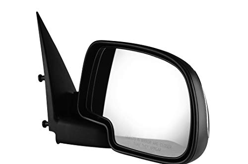 Passenger Side Chrome Cover Side View Manually Operated Non-Heated Mirror for 99-06 Chevy & GMC Trucks, 02-06 Avalanche, 07 Classic, 02-06 Cadillac Escalade EXT