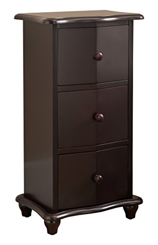 Kings Brand Furniture Dark Cherry Finish Wood 3 Drawer Accent Cabinet Chest by Kings Brand Furniture (Image #3)