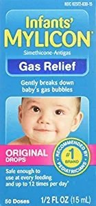 Mylicon Infants Anti-Gas Drops Original 0.5 oz. Per Bottle (4 Pack)