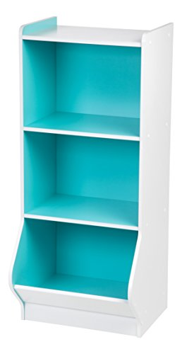 IRIS 3-Tier Storage Organizer Shelf with Footboard, White and Blue by IRIS USA, Inc.