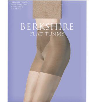 Berkshire Women's Ultimate Control Flat Tummy Silky Sheer Pantyhose 8116, Natural Tan, (Berkshire Control Top Pantyhose)