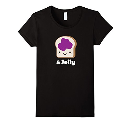 Womens MATCHING SET Peanut Butter and Jelly Couples Friend Shirt Small Black