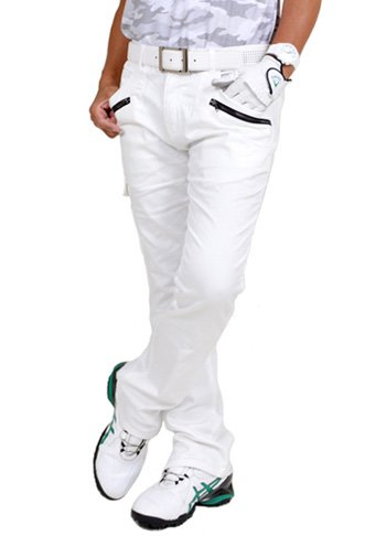 洗練順応性過ち【コモンゴルフ】 COMON GOLF メンズ ストレッチ素材 & スリット 入り 脚長 ゴルフ パンツ CG-140707