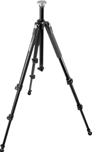 Manfrotto 055XWNB Aluminum Wilderness Tripod with Leg Protectors and Spiked Feet - Replaces 3221WN (Black)