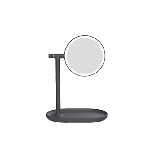 (Night Light Kekailu, Portable Double Sided LED Lighted Round Makeup Mirror Cosmetic Tool Night Lamp - Black)