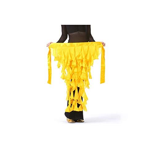 Dancewear Belly Dancing Chiffon Skirt Belt Women Belly Dance Hip Scarf,Gold]()