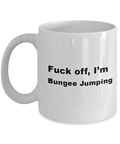 Bungee Jumping Mug - Gifts For Extreme Sport, Perfect Bungee Jumping Appreciation/Gag Gift - Tea/Coffee Cup For Hobbyist, Ceramic Present For Men Women Him Her