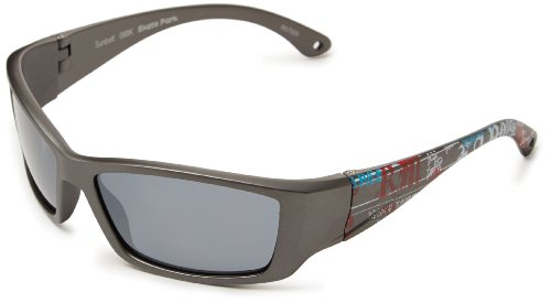 Sunbelt Skate Park 088 Wrap Sunglasses,Matte Dark Grey & Gra