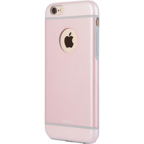 100% authentic 68b3c 69600 Moshi iGlaze Luxe Metal Bumper Case for iPhone 6/6s, Rose Pink