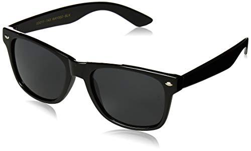 WearMe Pro - Premium Black Classic Horn Rimmed Square 80's Retro Sunglasses For Men ()