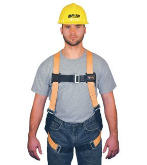 (Miller Titan by Honeywell TF4500FD/XXLAK Polyester T-Flex Stretchable Harness with Front D-Ring Vest-Style, XX-Large)