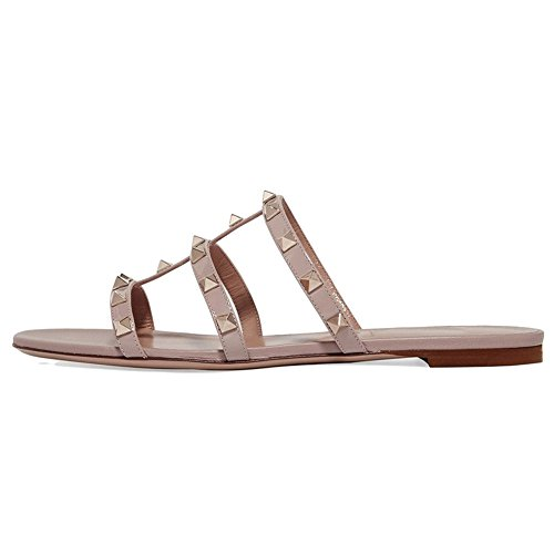 vocosi Women's Flat Heel Sandals with Rivets Slide for sale  Delivered anywhere in USA