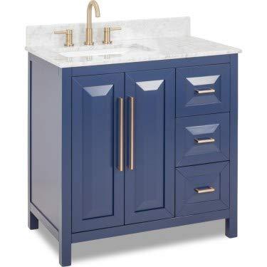 Jeffrey Alexander Limited Edition Cade Contempo Vanity, Hale Blue, VN-CAD-36-BL-WC ()