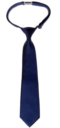 (Retreez Woven Pre-tied Boy's Tie with Stripe Textured - Navy Blue - 4-7 years )
