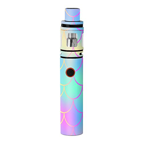 Skin Decal Vinyl Wrap for Smok Stick V8 Kit Vape stickers skins cover / Pastel colorful mermaid scales