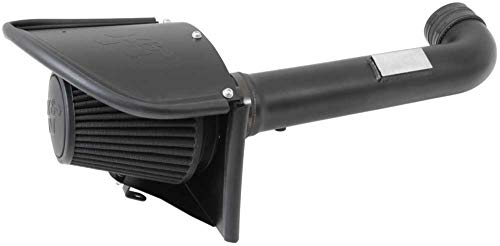 K&N Cold Air Intake Kit with Washable Air Filter:  2012-2018 Jeep (Wrangler, Wrangler JK) 3.6L V6, Blackhawk Finish w/ dry black filter, 71-1566 (Air Induction System)