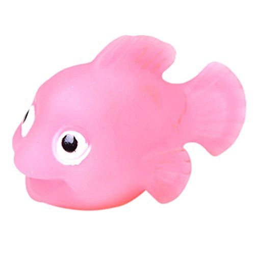 Acamifashion LED Light Kids Toy Water Induction Waterproof in Tub Bath Time Fun Shower Toy - Pink