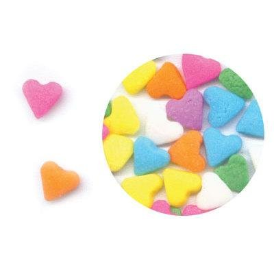 Multi-Color Pastel Heart Sprinkles/Quins, 2.5 Ounces