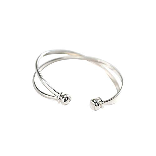 SLUYNZ 925 Sterling Silver Open Bangle Bracelet for Women Fine Jewelry Wedding Engagement Bracelet ()