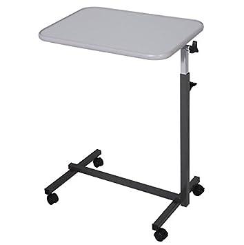 Gray Rolling – Mesilla auxiliar para cama (portátil ordenador portátil escritorio altura ajustable mesa inclinable