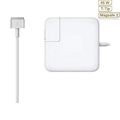 Book Air Charger, Great Replacement 45W Magsafe 2 Magnetic T-Tip Power Adapter Charger for Mac Book Air 11/13 inch After Mid 2012 -
