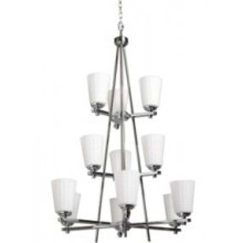 Artcraft Lighting Raleigh 12-Light 3-Tier Chandelier, Polished ()