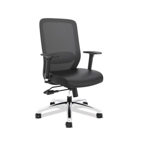 HON Exposure Mesh Task Chair - Mesh High-Back Computer Chair with Leather Seat for Office Desk, Black ()