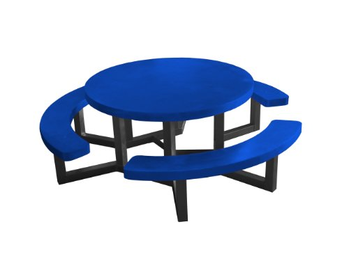 Fabulous Ofab Custom Theme Tables 42 Inch Round Picnic Table Blue Onthecornerstone Fun Painted Chair Ideas Images Onthecornerstoneorg