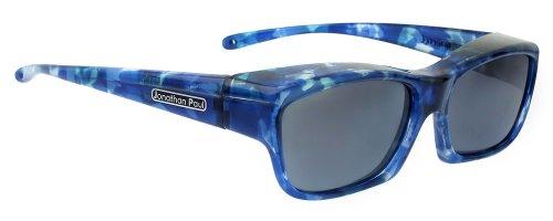 Fitovers Choopa Extra-Small Polarized Over Sunglasses ; Blue Blast & Polarvue Gray