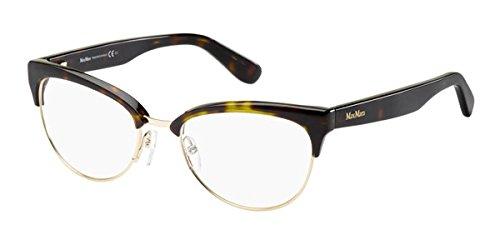 max-mara-eyeglasses-1222-0o2x-gold-havana-54mm
