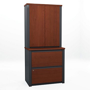 Prestige Plus Lateral File with Storage Hutch - Hutch Plus Storage