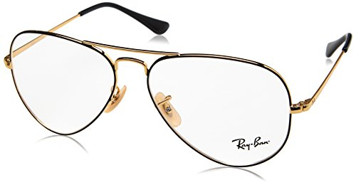 Ray-Ban rx6489 2946 58 aviator lunettes en or noir RX6489 2946 58 Clear Black Gold