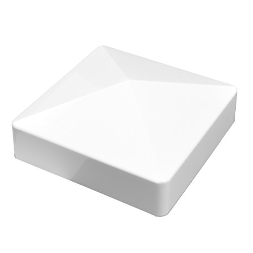 Durable White PVC Vinyl External Pyramid Post Cap for A True 3.5 Inch x 3.5 Inch Post | Single Pack | AWCP-EXT-3.5