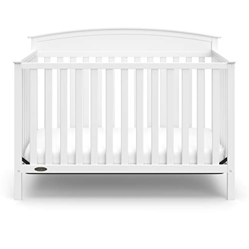 3187UjDPD2L - Graco Benton 4-in-1 Convertible Crib, White, Solid Pine And Wood Product Construction, Converts To Toddler Bed Or Day Bed (Mattress Not Included)