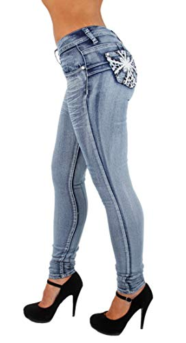 Colombian Design, Butt Lift, Levanta Cola, Skinny Jeans in Washed Blue Size 3
