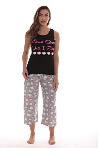 Just Love Womens Pajamas Cotton Capri Set 6329-10255-2X Cotton Plus Size Pajama Set