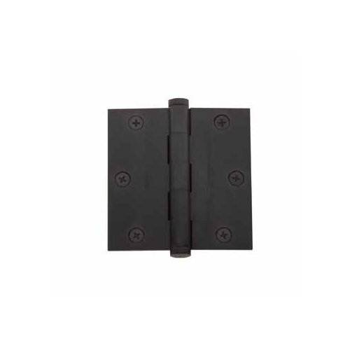 Baldwin 1035.102 Full Mortise 3-1/2-Inch x 3-1/2-Inch Butt Hinge, Oil Rubbed Bronze