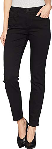 FDJ French Dressing Jeans Women's Petite Onyx Denim Olivia Slim Leg Black 6 28 Petite