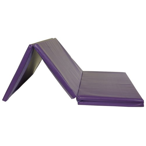 Greatmats Gym Folding Mat Exercise Cheerleading Tumbling 1.5 Inches Thick 4 x 8 Ft (Purple) by Greatmats.com