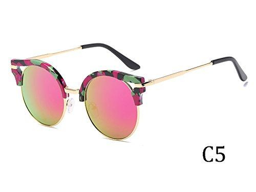 De El Revestimiento Insólito Bastidor 1603C5 Mujer Espejo Gafas Sol De 1603C5 TIANLIANG04 Del De Oro g8pqqwIx