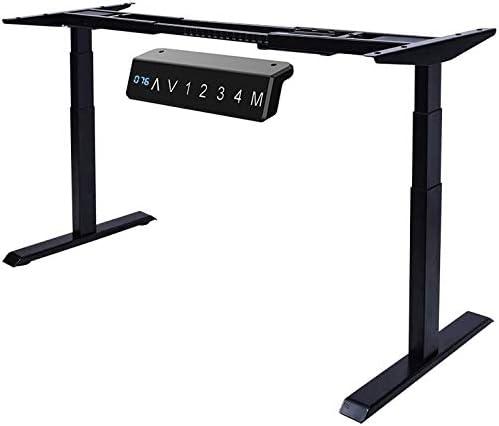 Venace Electric Standing Desk Dual-Motor 3-Stage Sit Stand Desk Stand up Workstation Black Frame only